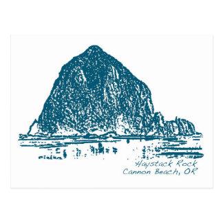 Carte Postale Illustration de roche de meule de foin