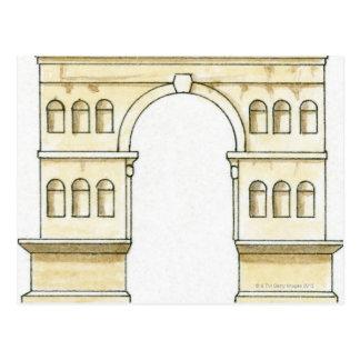 Carte Postale Illustration de voûte du 4ème siècle tôt de Janus