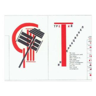 Carte Postale Illustration d'EL Lissitzky- à 'pour le voice