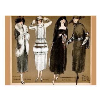 Carte Postale Illustration des années 1920 de couture de Haute