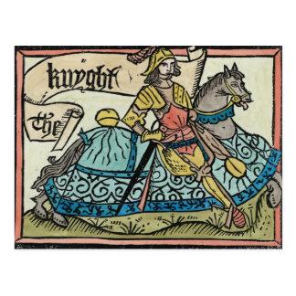 """Carte Postale Illustration """"des contes de Cantorbéry"""