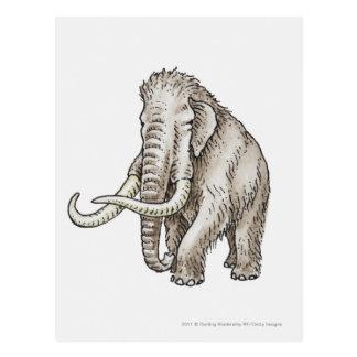 Carte Postale Illustration d'un mammouth