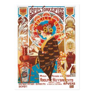 Carte Postale Illustration française de victorian de Nouveau