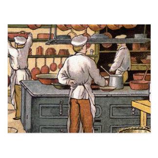 Carte Postale Illustration française vintage de cuisine