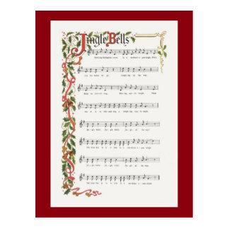Carte Postale Illustration musicale de tintements du carillon