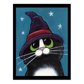 Carte Postale Illustration originale familière de chat de