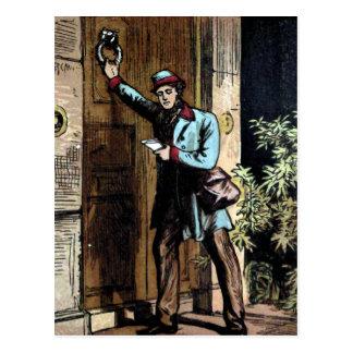 "Carte Postale ""Illustration vintage du facteur"""