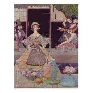Carte Postale Illustrations d'Edgar Allan Poe de Clarke