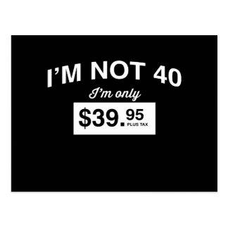 Carte Postale Im non 40, Im impôt seulement $39,95 plus