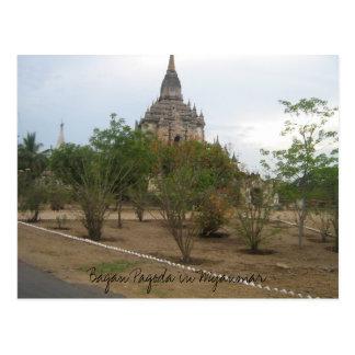 Carte Postale Image 055, pagoda de Bagan dans Myanmar