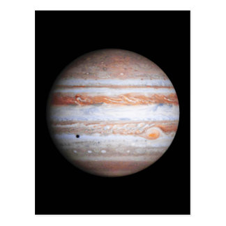 Carte Postale Image AUGMENTÉE de la NASA de flyby de Jupiter