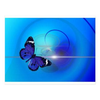 Carte Postale Image bleue de papillon