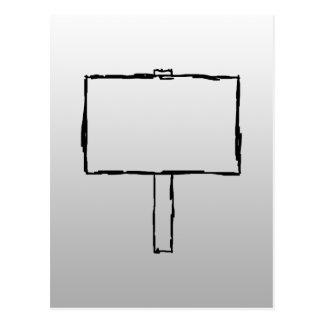Carte Postale Image d'avis de poteau indicateur. Noir sur le