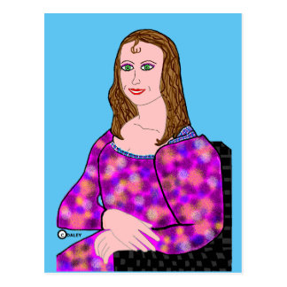 Carte Postale Image de bande dessinée de Mona Lisa