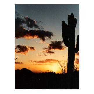 Carte Postale Image de coucher du soleil de l'Arizona