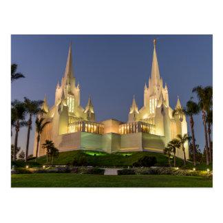 Carte postale : Image de soirée de temple de San
