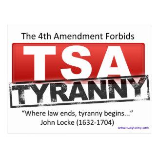 Carte Postale Image de tyrannie de Zazzle TSA