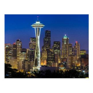 Carte Postale Image d'horizon de Seattle en quelques heures de