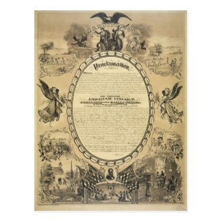 Carte Postale Image illustrée de la proclamation d'émancipation
