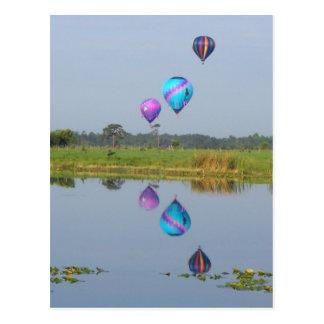 Carte Postale Image photographique chaude colorée de ballons à