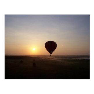 Carte Postale Image photographique chaude de ballon à air de