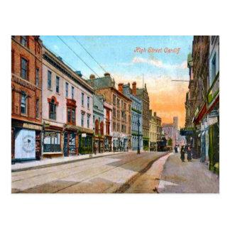 Carte Postale Image vintage de reproduction, Cardiff, grand-rue