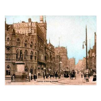 Carte Postale Image vintage de reproduction, rue de Cardiff, St