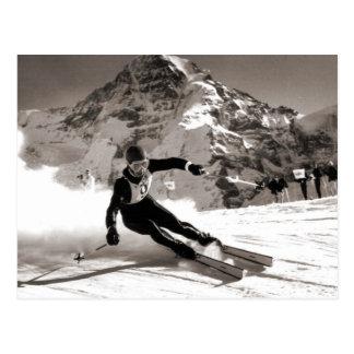 Carte Postale Image vintage de ski, course de Lauberhorn