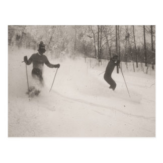 Carte Postale Image vintage de ski, grande poudre !