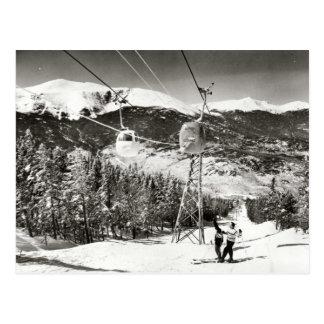 Carte Postale Image vintage de ski, remonte-pente