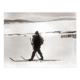 Carte Postale Image vintage de ski, ski de pays croisé