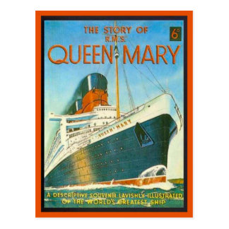 Carte Postale Image vintage, histoire de Queen Mary, 6 penny,