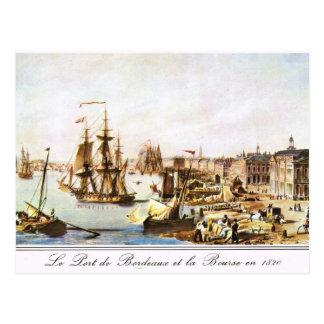 Carte Postale Image vintage, port 1820 de Bordeaux
