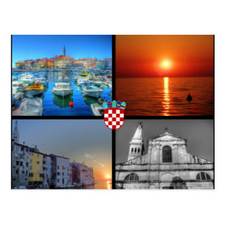 Carte Postale Images de quadruple de Rovinj
