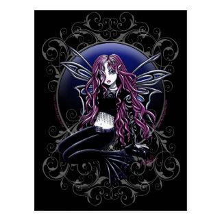 Carte Postale Imaginaire magique de fée de rose de miroir de