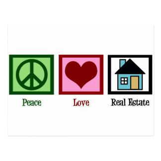 Carte Postale Immobiliers d'amour de paix