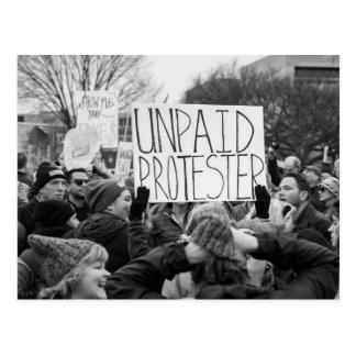 Carte postale impayée de protestataire