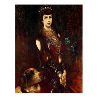 Carte Postale Impératrice Elizabeth de l'Autriche, 1883