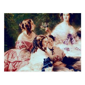 Carte Postale Impératrice Eugenie et ses dames dans l'attente