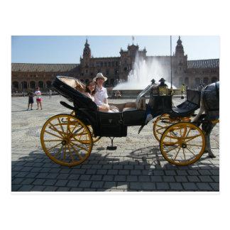 Carte postale impériale de chariot