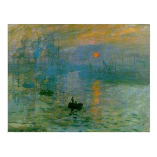 Carte Postale Impression, lever de soleil