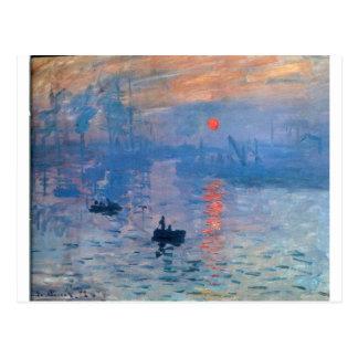 Carte Postale Impression, lever de soleil par Claude Monet