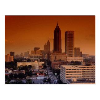 Carte Postale Impulsion de la ville, Atlanta, la Géorgie,