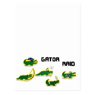 Carte Postale Incursion d'alligator