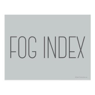 Carte Postale Index de brouillard