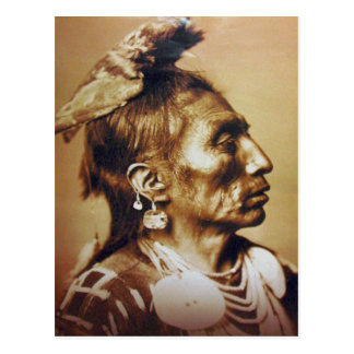 Carte Postale Indien d'Amerique indigène d'Apsaroke de corneille