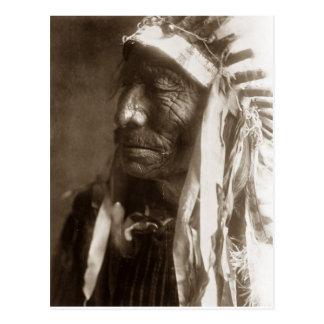 Carte Postale Indien d'Amerique indigène rapide de Hexaka