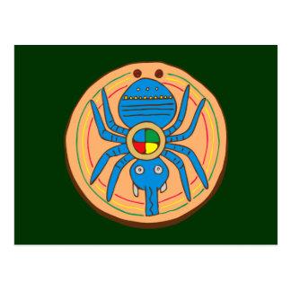 Carte Postale Indien Native American araignée plus spider