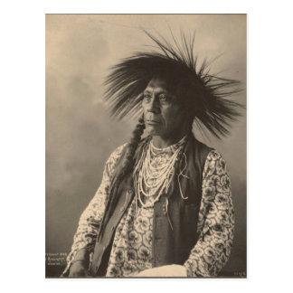Carte Postale Indien vintage : Antoine Moise, à tête plate -
