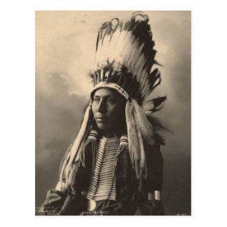 Carte Postale Indien vintage : Grand cheval de Hubble, Cheyenne